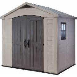 keter factor 8 x 6 storage shed taupe walmart com