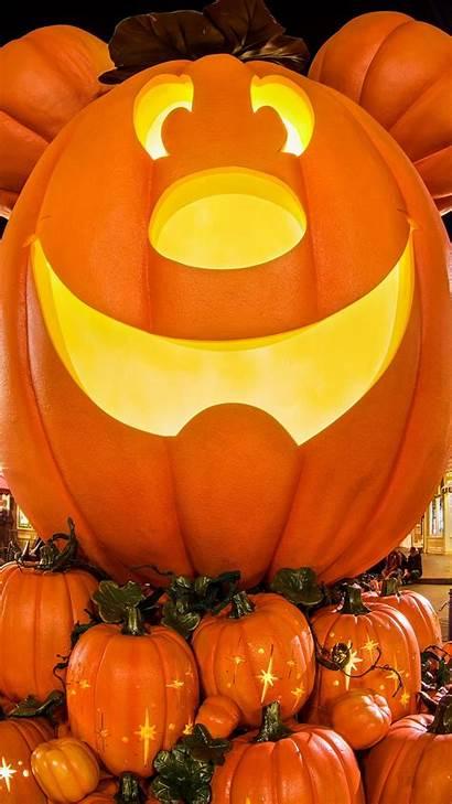 Iphone Mickey Disney Wallpapers Pumpkin Plus Halloween