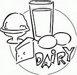 Dairy Coloring Clipart Pages Food Clip Cliparts Popular Library Coloringhome sketch template