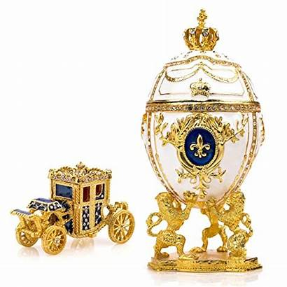Faberge Egg Box Jewelry Hand Painted Decorative