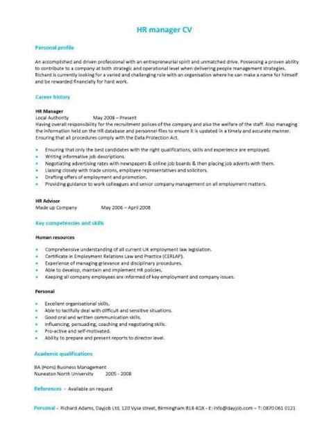 Draft Cv Template by A Hr Manager Cv Template With A Simple But Eye Catching