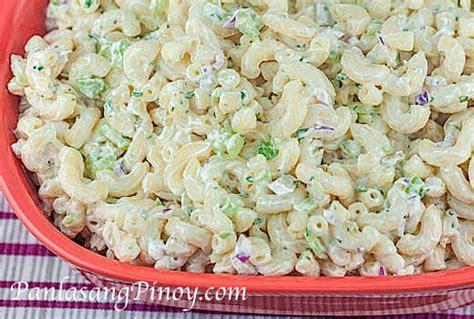 easy pasta salad recipies easy macaroni salad panlasang pinoy