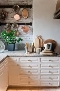 two color kitchen cabinet ideas brick backsplashes rustic and of charm