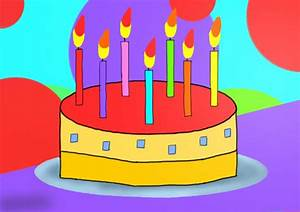 Learn How to Draw Birthday Cake for Kids (Cakes) Step by ...