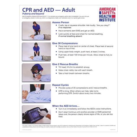 cpr  aed poster adult