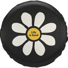 white sunflower flower spare car tire cover car