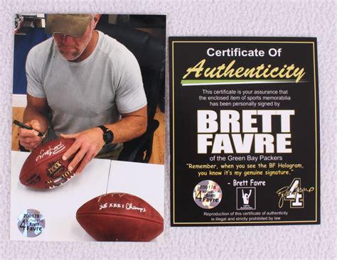 Brett Favre Signed Super Bowl Xxxi Nfl Official Game Ball