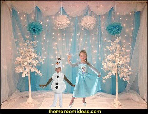 ideas  frozen birthday decorations