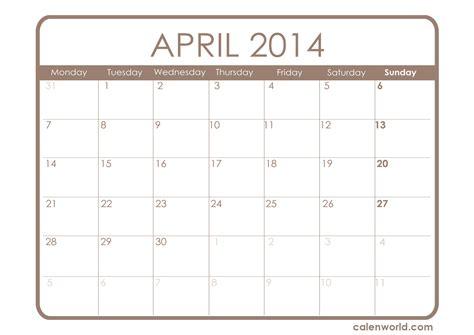 Printable April Calendar Calendars