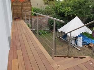 balcon en bois avec rambarde inox With idee couleur escalier bois 10 pose de terrasses bois et composite