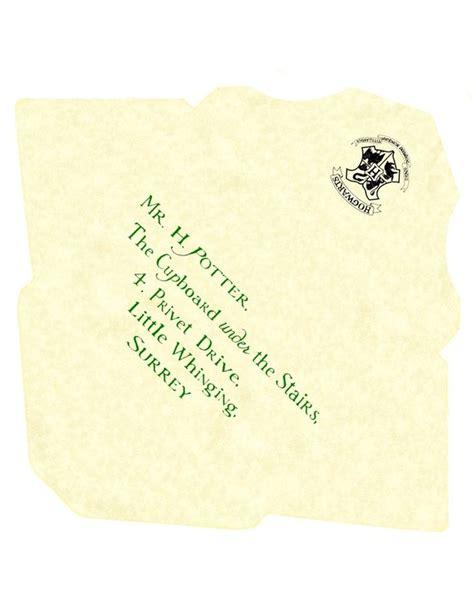 ideas  harry potter letter  pinterest