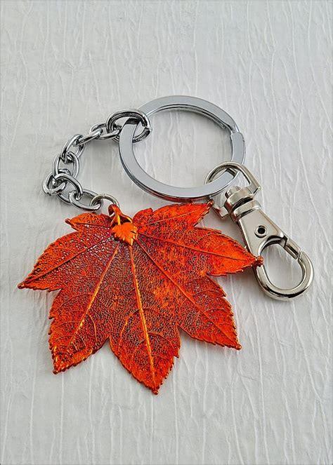 leaf key chain maple leaf keychain
