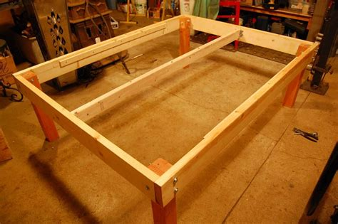 strong  tough platform bed diy  steps  pictures