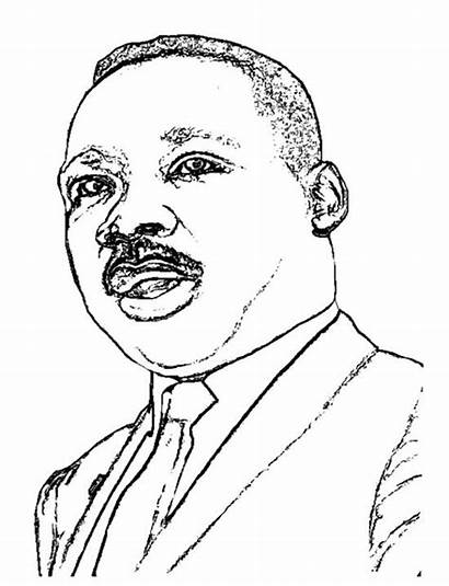 Luther Martin King Coloring Jr Pages Stevie