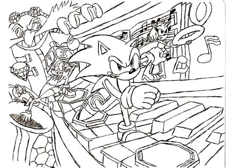 Sonic Boom Coloring Pages To Print