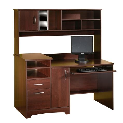 wood desk with hutch south shore park collection wood computer desk w hutch ebay