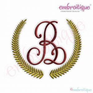 Embroitique Classic Wreath Monogram Frame