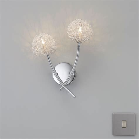 pallas chrome effect wall light departments diy at b q