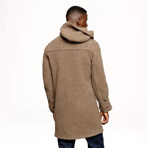 jcrew harbour duffel coat  english wool  brown  men lyst