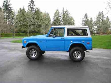 blue bronco car buy used 1973 bronco by em2 inc new 302 4v at ps pb one