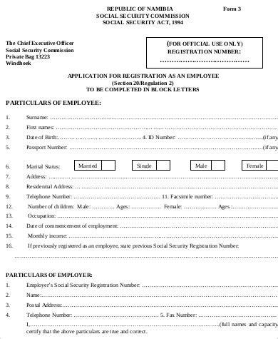 registration form format pdf 8 sle employee registration forms sle templates