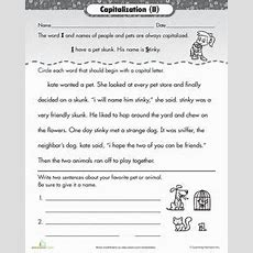 32 Best Images About Capitalization Mini Lesson On Pinterest  Anchor Charts, Spelling And