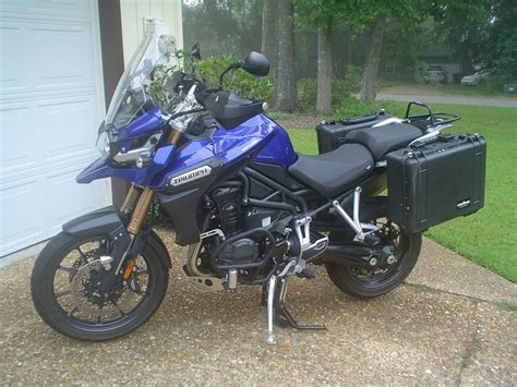 Triumph Tiger Explorer Modification by Triumph Tiger Explorer 1200 35 Liter Pelican Side Luggage