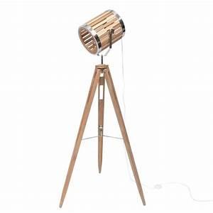 Pied Lampadaire Bois : lampadaire spot ~ Teatrodelosmanantiales.com Idées de Décoration