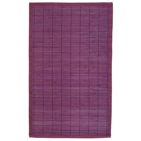 tapis en bambou 224 lattes fines 45 x 75 cm violet