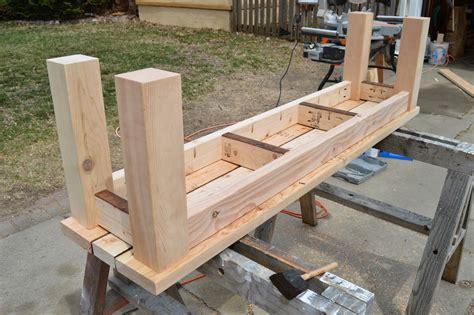 Kruse's Workshop Simple Indooroutdoor Rustic Bench Plan