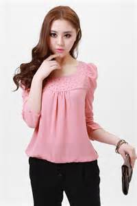 Women's Pink Crystal blouse/lovely shirt/korea princess blouse/Ladies Fashion shirt(many color and M-XXL sizes)-Free Shipping