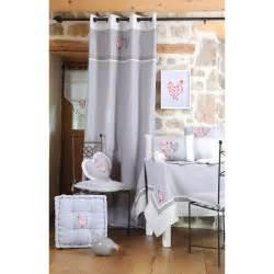 Rideau Chambre Gris Et by Rideau Cagne Romantique Gris D 233 Cor Poules Brod 233 Es Et