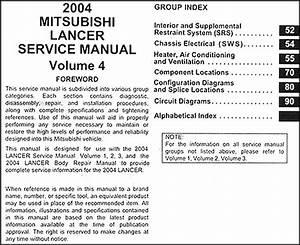 2004 Mitsubishi Lancer Repair Shop Manual Original 4