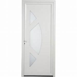 porte d39entree pvc jersey artens poussant droit h215 x l With porte d entrée pvc avec devis gratuit salle de bain