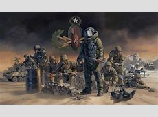 'FORGED IN FIRE' Military Artist Stuart Brown