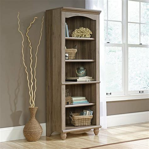 Harbor View Bookcase by Sauder 72 Inch Harbor View Library Bookcase In Salt