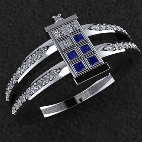 dr who wedding rings doctor who tardis ring