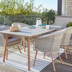 Table De Jardin 4 Personnes : salon de jardin new england blanc 4 personnes leroy merlin ~ Teatrodelosmanantiales.com Idées de Décoration