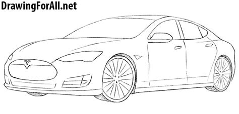 Pages Tesla Car Coloring