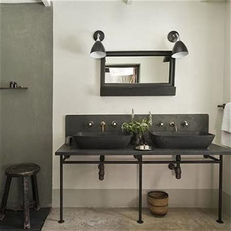 Black Industrial Bathroom Mirror by Industrial Bathrooms Modern Bathroom The Satyagraha
