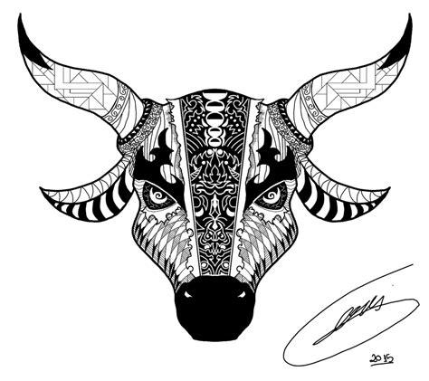 bull tattoo images designs