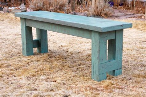 diy create   rustic turquoise bench home ranch