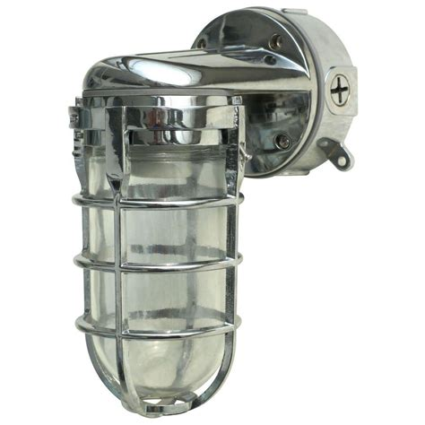 designers edge industrial 1 light chrome outdoor weather