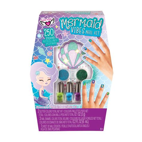 mermaid vibes nail art design set