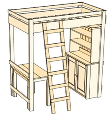 loft bed plans twin bed plans diy blueprints