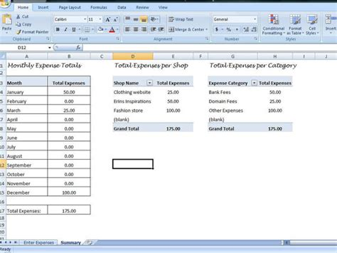 overhead expense template small business expenses