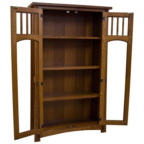 Mission Bookcase Glass Doors by 36 Quot X 60 Quot Amish Mission Bookcase W Glass Doors