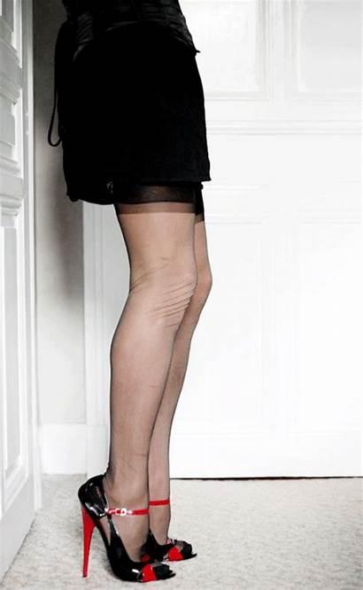 Upskirt Heels Fetish Stockings Nylon Inch Thigh