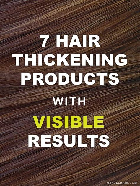 thicker hair  instant hair thickening