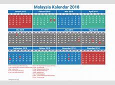 Free 5+ 2018 Calendar Malaysia Printable Template Holidays